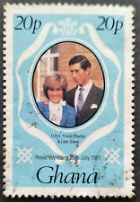 GHANA 1981 Scott 759 Gibbons 948 Royal Wedding Issue Prince Charles & Lady Diana