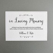 In Loving Memory Wedding Sign - Personalised with Bride & Groom's Names