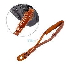 Non-slip Camera Strap Wrist Hand Belt Strap PU Leather Lanyard for DSLR Brown