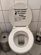 Klo Deckel Sticker Toiletten Tür Aufkleber Fun Sticker WC Bad Piß nicht daneben