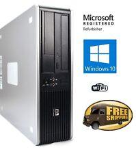 Fast HP Desktop PC Computer Dual Core 3.4Ghz 8GB 2TB Windows 10 Pro WIFI