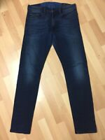 WORN Mens Diesel THOMMER LYOCELL Stretch Denim 084BV DARK BLUE Slim W31 L32 H6
