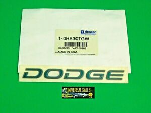 DODGE GRAND CARAVAN DECAL EMBLEM BADGE DOOR 1997 1998 DARK GREEN MOPAR OEM NEW