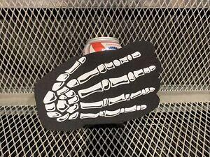 PABST BLUE RIBBON BEER 12oz Koozie PBR Skeleton Hand RARE Halloween Skull