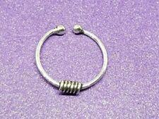 Piercings color principal plata de plata de ley de oreja