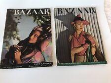 Vintage 1940s Harpers Bazaar Magazine lot Jan 1943 May 1942 Katherine Hepburn