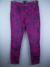 Womens Tommy Hilfiger Pink Floral Skinny Jeans Size 2 Retail $79.50 #384