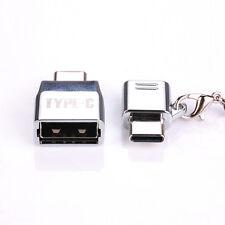 Metal Micro USB 2.0 Female to USB 3.1 Type C Male Converter USB-C OTG Adapter
