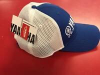 Yamaha Pro Fishing Hat Blue White Mesh Boating Baseball Cap Hat SAME DAY SHIP!