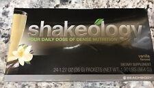 Beachbody Shakeology Vanilla SEALED Box of 24 packets - Exp 5/2020