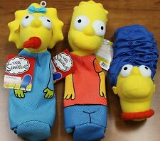 3X New Dog Toys The Simpson Bottle Heads