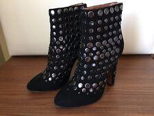 NEW ALAIA Black Ankle Boot Sz 37 $1100ALAÏA