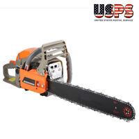 """2200W 20"""" Bar 52CC Gasoline Chainsaw Cutting Wood Machine 3000rmp Free Shipping"""
