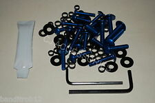 BLUE Suzuki Bandit GSF600 95-99 Anodised Aluminium Fairing Bodywork Bolt Kit