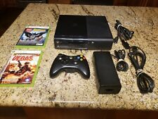 New listing Xbox 360 E Model 1538 250Gb Console - Bundle: Controller, Cables, Games
