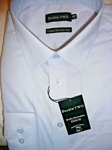 Size 17 Double Two Cotton Rich Non Iron Long Sleeve Non Iron Shirts. SLS4500/AG