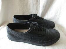 Vans black leather trainers  size 5.5