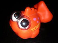 Orange Fish Bath Toy Retro 1990's TOMY FISH with GOOGLY EYES 1993
