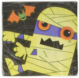 Boo Crew Skeleton Monster Mummy Spider Cute Halloween Party Luncheon Napkins