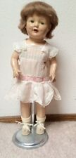 "Vntg Horsman Rosebud Composition Doll Tin Eye 18 "" 1928"