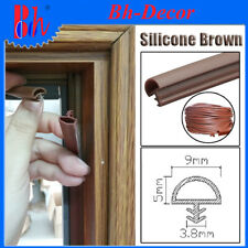 Extrusion Silicone Rubber Sealing Weather Stripping Door Frame Seals 9mm Brown