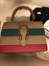 GUCCI NEW DIONYSUS BAG Beige Green Red Top Bamboo Handle Medium with Tag and Box