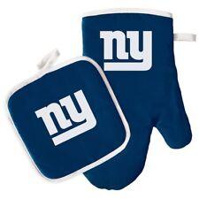 New York Giants Oven Mitt & Pot Holder Set Tailgate Barbecue Tailgating NFL