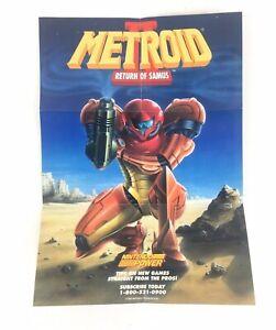 Metroid II 2 Return of Samus Game Boy Mini Poster Insert Ad Nintendo Power