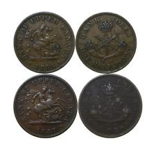 1857 & 1854 Canada Upper Bank Both Penny & Half Penny Tokens Br #719 & 720
