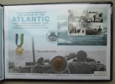 More details for 2013 battle of atlantic first day cover (churchill crown & miniature medal)