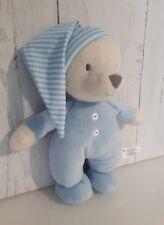 Sainsburys blue night time teddy bear soft hug toy comforter soother