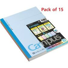 "Kokuyo Campus Notebook Semi B5(""9.8×""7)- 6 mm-35Lines X 30Sheets - Pack of 15"