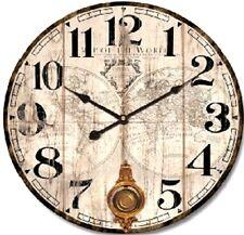 Orologio da parete stile shabby Mappamondo grande 60 cm vintage pendolo salotto