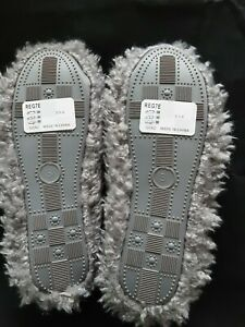 Slippers Fluffy Grey Size 3/4 New With Tags By Very (Xmas Gift Idea)
