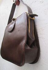Joli sac à main en cuir  BEG  vintage 50's bag /Handtasche