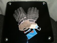 """Gloves""""Next""""Thinsulate Isolant 3M Fan-Tex Grey Black Colour Size:7-10 Years New"""