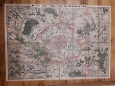 Nouvelle carte des environs de Paris par Clérot TRES RECHERCHÉ vers 1860
