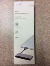 Moshi USB-C Multimedia Adapter Hub with HDMI  SDXC Card Reader, Titanium Gray