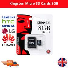 Kingston Micro SD Tarjeta de memoria SDHC de 8GB Con Adaptador Para SAMSUNG HTC NOKIA HUAWEI