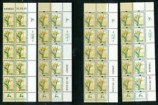 ISRAEL 2006 FLORA GAGEA 4 DIFFERENT PLATE / TAB BLOCK DATES MNH