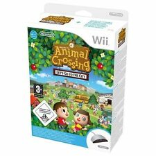 Animal Crossing Let's go to the city Bundle Wii GAME PAL *BRAND NEW!* + Warranty
