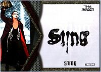TNA Sting S2 2009 Impact Authentic Face Paint GOLD Memorabilia Card SN 39 of 60