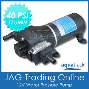 12V WATER PRESSURE DIAPHRAGM PUMP 17 L/MIN 40 PSI - Caravan/RV/Boat/Marine/4x4