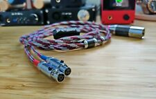 HI-END LITZ  PURE SILVER balanced cable for Audeze LCD2 LCD3 LCD4 LCDX LCDXC