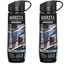 BRITA Hard Sided Water Filter Bottle 23.7 Ounces Americana NEW - 2 BOTTLES