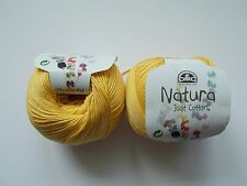DMC Natura, Just Cotton, cotton yarn, 50g, shade - N16, TOURNESOL, yellow