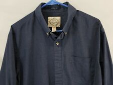 St. John's Bay Men's Shirt Classic Fit Large Blue Gently Used