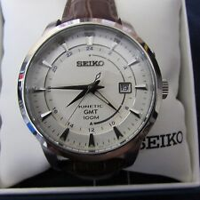 New Seiko Kinetic GMT Mens Watch SUN041
