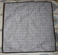 """Restoration Hardware Quilted 100% Silk Gray & Brown 26"""" Square Euro Pillow Sham"""