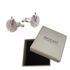 Mens Ships Navigation Deluxe Telegraph Silver Cufflinks & Gift Box By Onyx Art